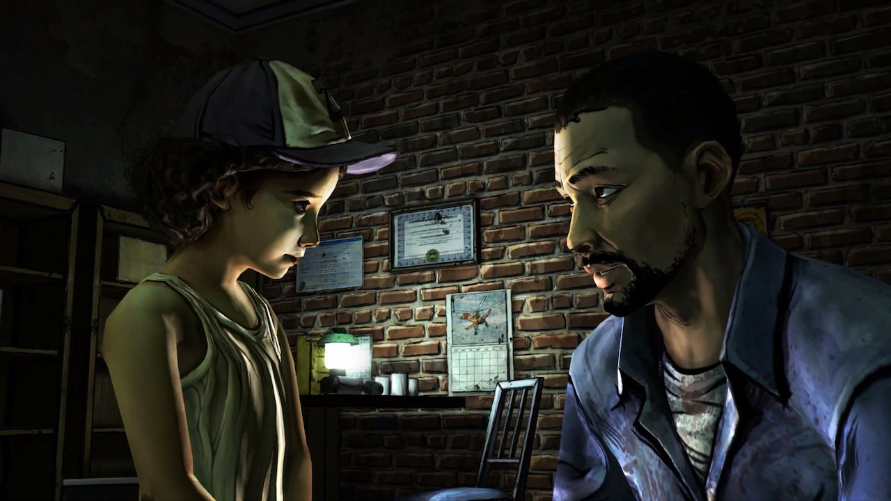 the Walking Dead lee Everett Clementine Pharmacy