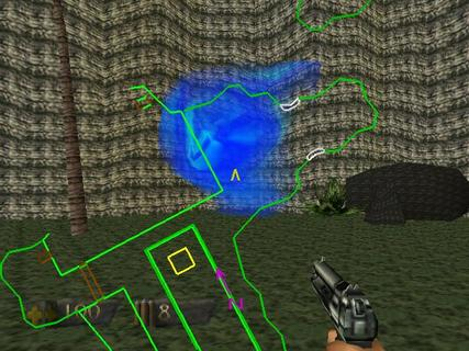 Turok Dinosaur Hunter Blue Portal Pistol Map