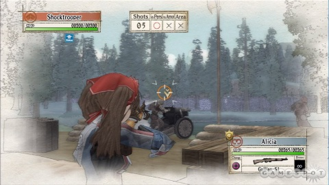 Valkyria Chronicles Alicia Shooting Tank Combat