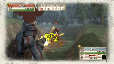 Valkyria Chronicles Rosie Shooting Combat