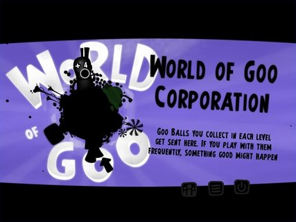 World Of Goo Corporation Main Menu