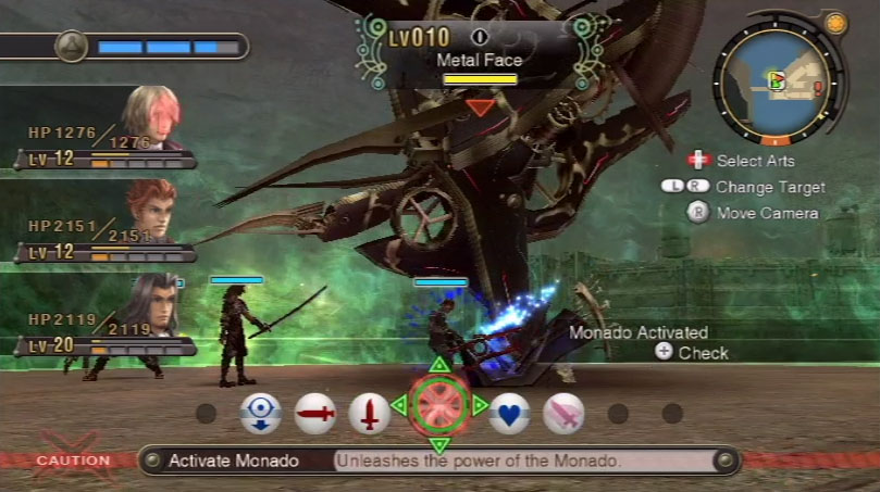 Xenoblade Chronicles Metal Face Battle